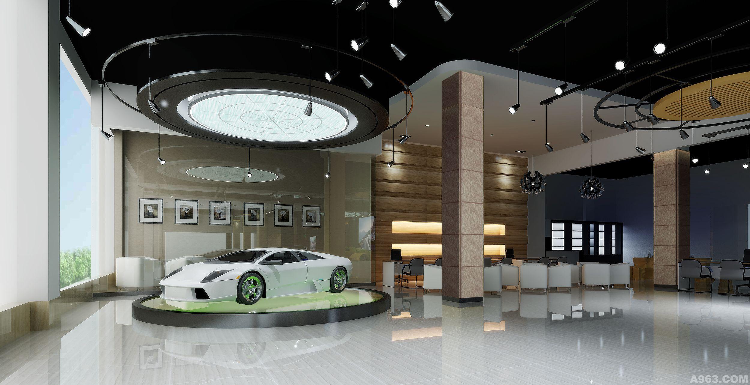 广州驰悦汽车展厅 - 展示空间 - 孙立荣设计作品案例