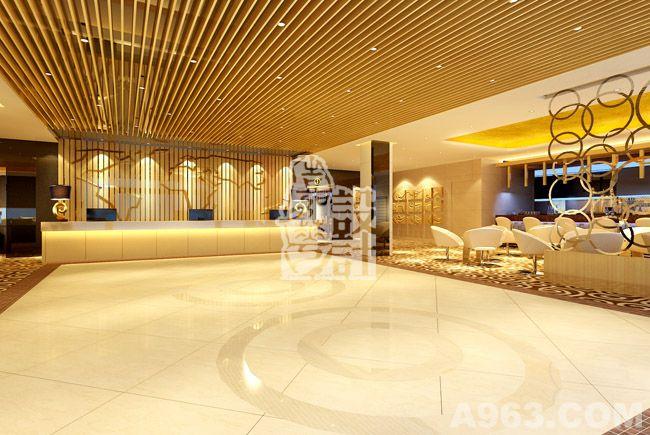 酒店大堂风格延续建筑主题完整的造型语言和