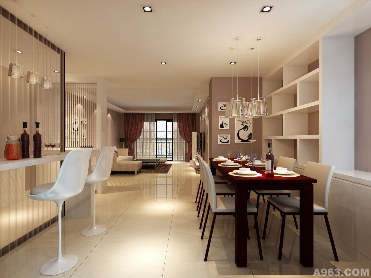 家装设计 > free时空设计工作室作品  现代简约风格虽然不像欧式风格