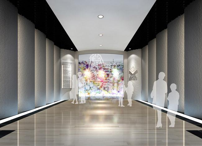 美术楼展厅手绘