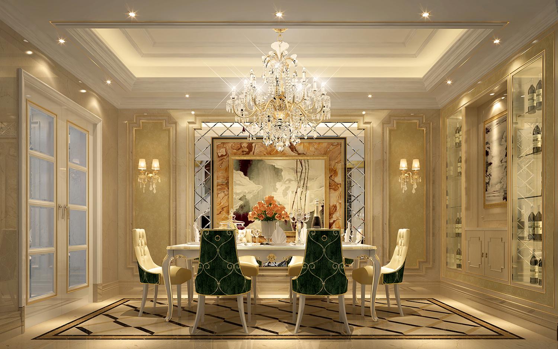 本设计风格为简欧奢华风。整体色调以珍珠白为主,室内装饰从简单到繁杂、从整体到局部,每一分精雕细琢都给人一丝不苟的印象。一方面通过材质与色彩的运用,能强烈感受传统的历史痕迹与浑厚的文化底蕴。同时又摒弃了过于复杂的肌理和装饰,简化了线条。平和而富有内涵的气韵,描绘出居室主人高雅、贵族的身份。 本案整个室内的布局严谨、对称,内部空间功能合理,每个空间均宽敞气派又相对私密,满足主人生活、社交需要的同时,能恰如其分的表达主人的身份尊崇感,带来尊贵的生活体验。注重营造大空间、大尺度,功能设置齐全。本案推崇的是引领现代