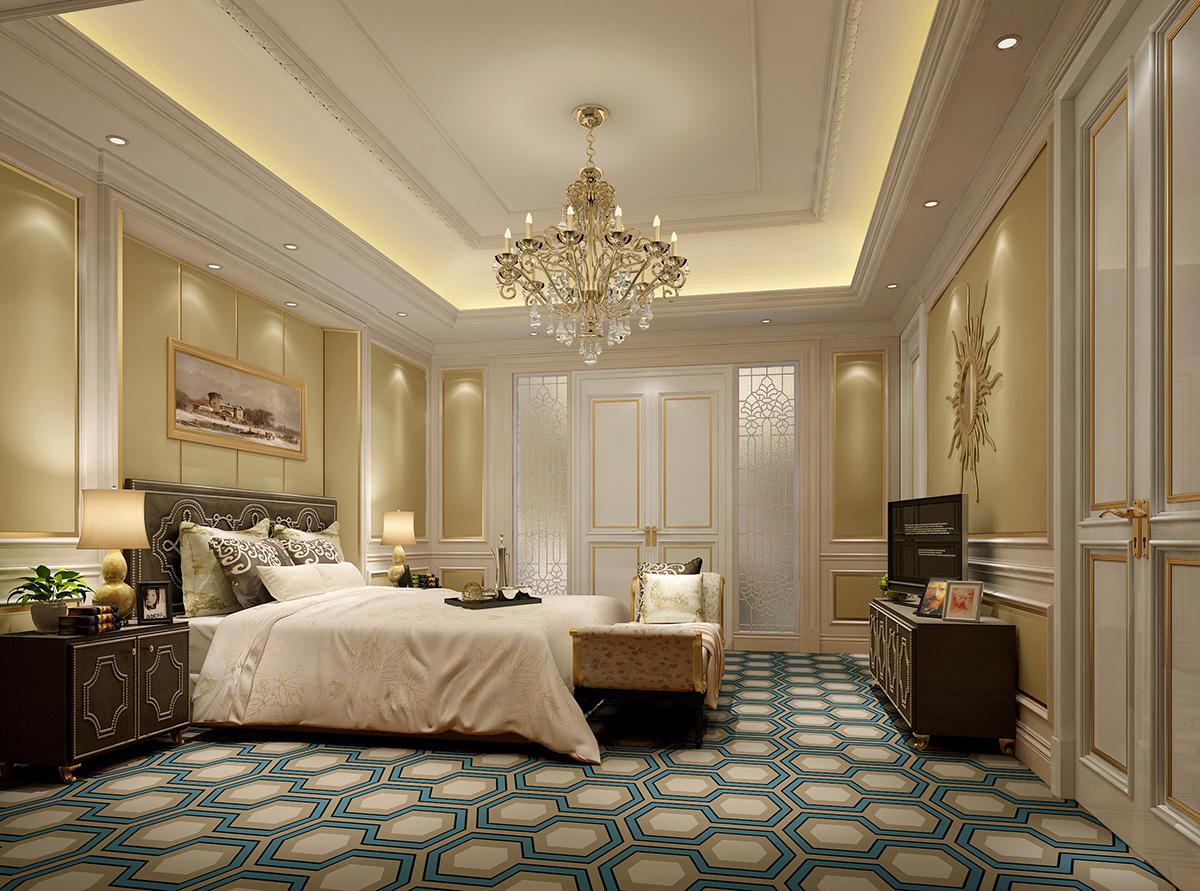 本设计风格为简欧奢华风。整体色调以珍珠白为主,室内装饰从简单到繁杂、从整体到局部,每一分精雕细琢都给人一丝不苟的印象。一方面通过材质与色彩的运用,能强烈感受传统的历史痕迹与浑厚的文化底蕴。同时又摒弃了过于复杂的肌理和装饰,简化了线条。平和而富有内涵的气韵,描绘出居室主人高雅、贵族的身份。