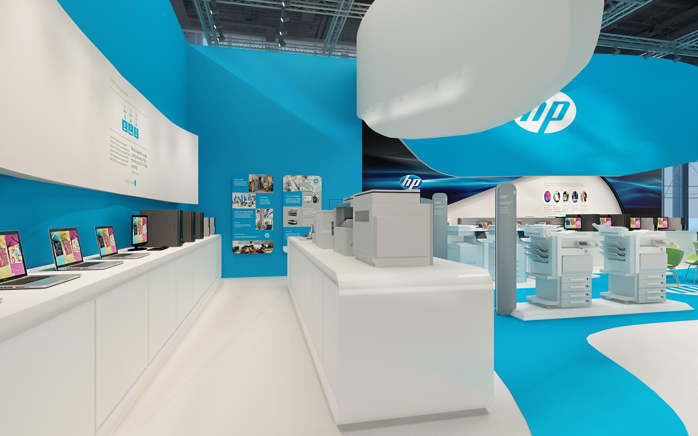 hp展厅 - 展示空间 - 广州室内设计网_广州室内设计