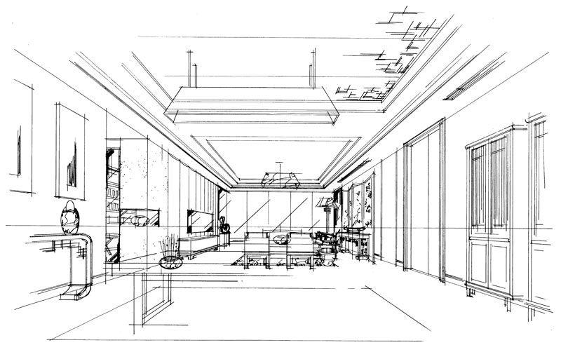 室内户型手绘线稿步骤