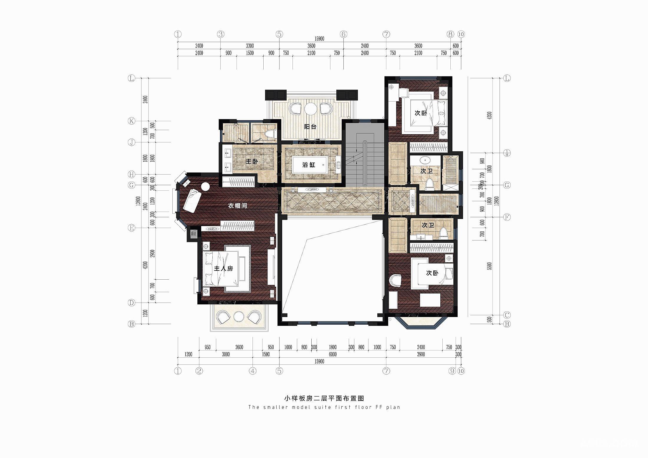 项目名称:重庆卉森湖别墅(小独栋)室内设计 建筑面积:420m2 装修风格:美式 主要材料:进口大理石,进口墙纸,台湾仿金箔、樱桃木、柚木、进口涂料。欧普LED光源 设计师:陈传栩 本案是一个为了促进地产销售而作的示范单位,风格定位的立意是帮助发展商打动六、七十年代出生的事业有成人仕,以促成其购买行为。该消费群体的特点是一方面享受着现代的科技物质文明,另一方面又对美式文化有着眷恋之情。   美式风格,顾名思义是来自于美国的装修和装饰风格。是殖民地风格中最著名的代表风格,某种意义上已经成了殖民地风格的代名词