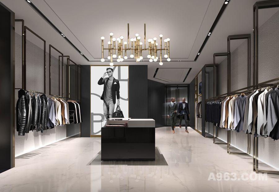烽流服饰店铺展厅设计装修案例 - 展示空间 - 广州
