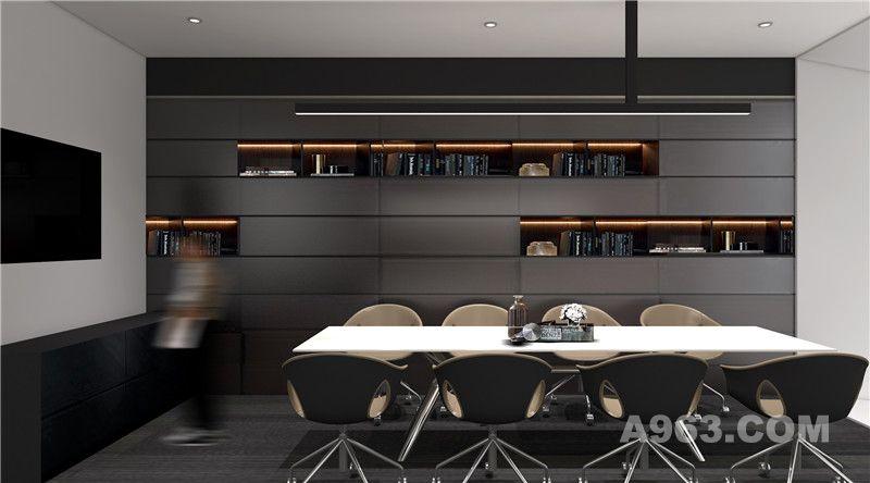 良策办公室设计茶室设计效果图