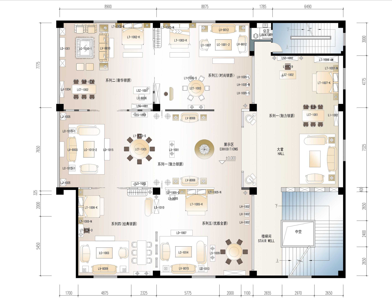家具展cdr平面设计图展示图片