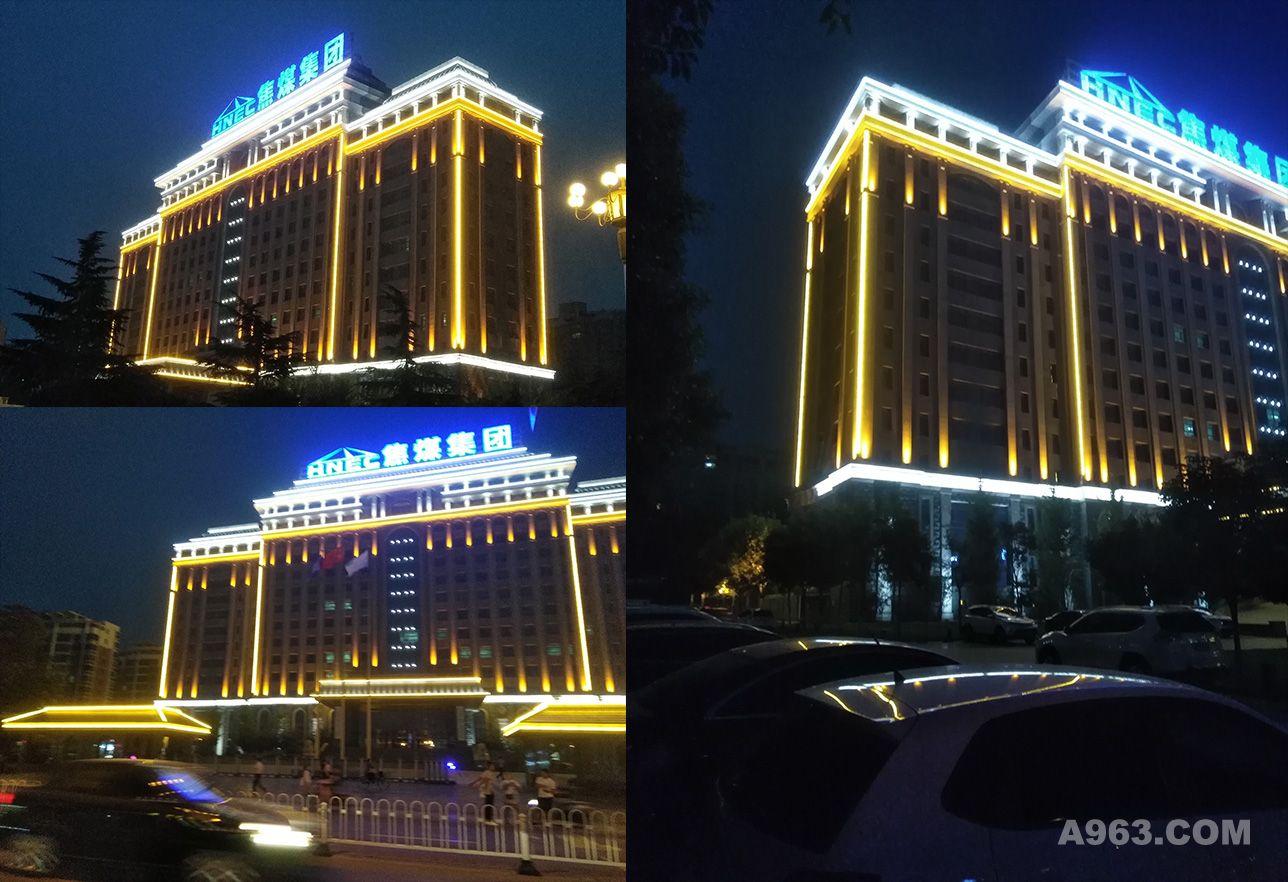 河南焦作煤业大年夜大厦大年夜大楼外墙照明工程设计计划